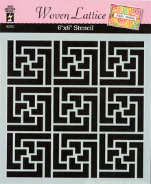 """Woven Lattice 6x6"""" Stencil from Hot Off the Press for Chalking Inking Embossing-Paste Sprays Mists Markers More!"""
