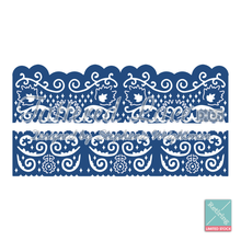 Tattered Lace Florentine Fancy Edges  D223 -- Set of 2 -- Cutting Dies RETIRED