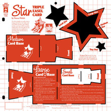 HOTP Template 7426 Star Triple Easel Card Template 12X12