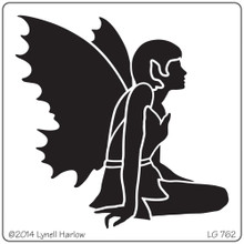 Metal Stencil FAIRY for Embossing Paste, Dry Embossing, Zentangle, Spritzing, Stenciling & More