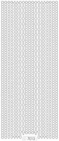 Starform GLITTER BLACK SILVER  N7010 BORDERS ASSORTED Stickers Peel Outline