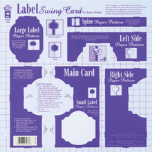 HOTP Template 7436 Label Swing Card Template 12X12