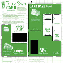 HOTP Template 7438 Triple Step Card Template 12X12