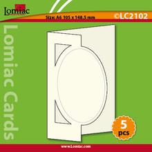 Lomiac Die-Cut A6 Oval Blue 5-pc Cards Card-Making
