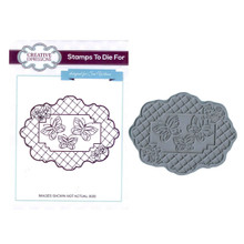 Creative Expressions Pre-Cut Rubber Stamp Sue Wilson UMS602 Butterfly Trellis