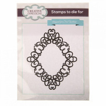 SUE WILSON CRAFT STAMP - HEART SWIRL
