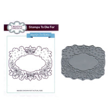 Creative Expressions Pre-Cut Rubber Stamp Sue Wilson UMS591 Floral Garland