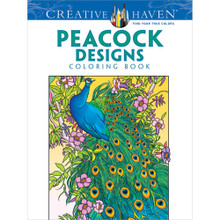 Peacock Designs Adult Coloring Book Over 30 Creative Designs to Color