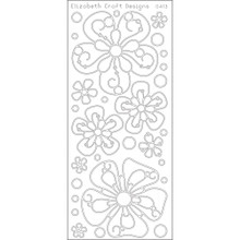 Elizabeth Craft Big Flowers EC413 Black Peel Stickers