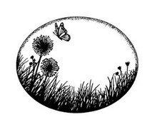 Sue Wilson UMS571 Dandeion Meadow Creative Expressions Pre-Cut Rubber Stamp