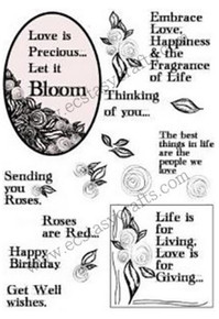 Creative Expressions Elements Stamps Scribble Rose Collection CEC712 Clear Stamp Set