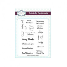 Creative Expressions Delightful Sentiments Collection CEC703 Clear Stamp Set