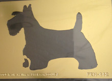 "Scotty Dog Brass Stencil PRH-442 2""x3"""