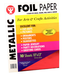 Hygloss 10X13 Foil Paper Pack 5-EA GOLD SILVER