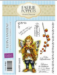 Faerie Poppets Elfin Lanterns By Christine Haworth 9-Stamp EZMount Rubber Stamp Set