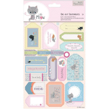 Little Meow Die-Cut Sentiments Pack 2-sheets 44 Die-Cuts