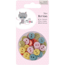 Little Meow Buttons 1/2-inch 30pcs