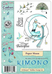 Kimono Paper Moon Stamp EZMount Rubber Stamp Set by Crafter's Companion