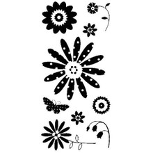 Inkadinkado Clear Stamps-Pretty Flowers