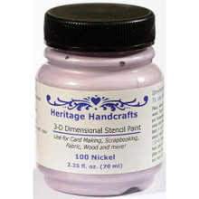 Heritage Handcrafts - Nickel 3D Dimensional Stencil Paint