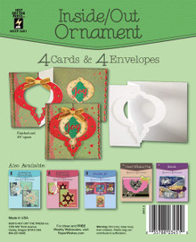Hot Off The Press - Inside/Out Ornament Die-Cut Cards (4-Pack)