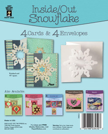 Hot Off The Press - Inside/Out Snowflake Die-Cut Cards (4-Pack)