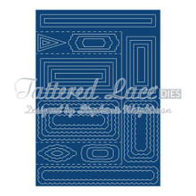 Tattered Lace Side Stepper Card Cutting Dies Set SC01 Includes 35-Dies
