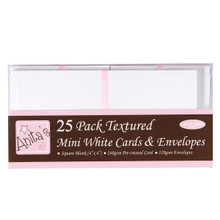 docrafts Anita's Square Cards and Envelopes, 4 by 4-Inch, White, 25-Pack