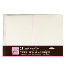 docrafts Anita's Cards/Envelopes A5, Cream, 25-Pack