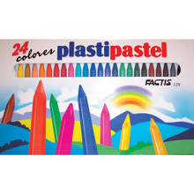 Factis Plastipastel Non-Wax Crayons Set of 24
