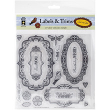 Hot Off The Press - Labels & Trims Stamp Set
