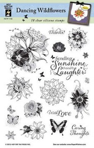 Hot Off The Press - Dancing Wildflowers Stamp Set
