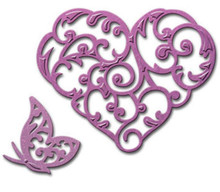 Spellbinders Heart & Flutterl S2-150 Cutting Die Set