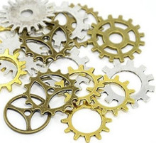 Metal Art Embellishments Gears Approx 15-pc Gears in Variety of Colors Sizes and Styles