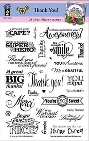 HOTP Thank You! Clear Silicone Stamp Set 28pc HOTP1189