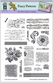 HOTP Fancy Patterns Clear Silicone Stamp Set 22pc HOTP1198