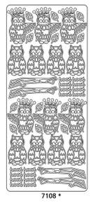 Peel-Offs Hoot Hoot Owl 7108 Gold Peel Stickers