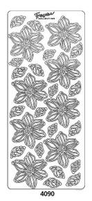 Peel-Offs Blooms 4090 Gold Peel Stickers
