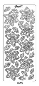 Peel-Offs Blooms 4090 Black Peel Stickers