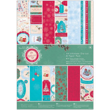 Papermania Ultimate A4 Die-Cuts & Paper Pack 48/Pkg-Bellissima Christmas