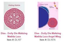 Cheery Lynn Designs DL107 & DL107A Waltzing Matilda Lace Doily & Angel Wing 2pc