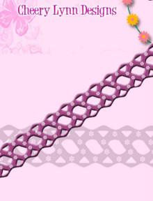 Cheery Lynn Design - B157 - Country Girl - Border Ribbon Cutting Die