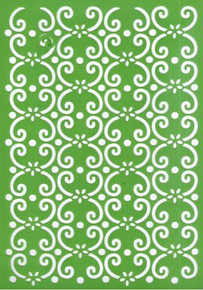 A4 Joy! Craft Plastic Embossing Stencil - Curls -  Use for Dry Embossing, Texture Paste, Mask & More!