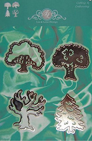 Lin & Lene Designs Trees - Set of 4 Dies for Cutting and Embossing 1201-0017
