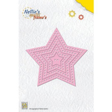 Nellie's Choice Multi Frame Dies, Decorative Star, 7-Pack
