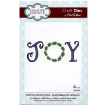 Craft Die CED3030 Sue Wilson Festive Collection - Joy Wreath