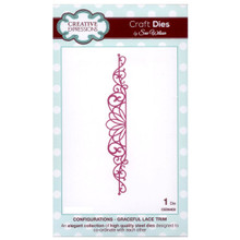 Craft Die CED6403 Sue Wilson Configurations Collection - Graceful Lace Trim