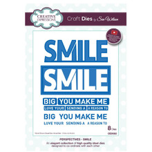 Craft Die CED8302 Sue Wilson Perspectives Collection - Smile