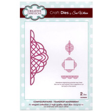 Craft Die CED6305 Sue Wilson Configurations Collection - Teardrop Adornment