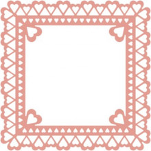 Cheery Lynn Sweetheart Frame Metal Die for Scrapbooking FRM127